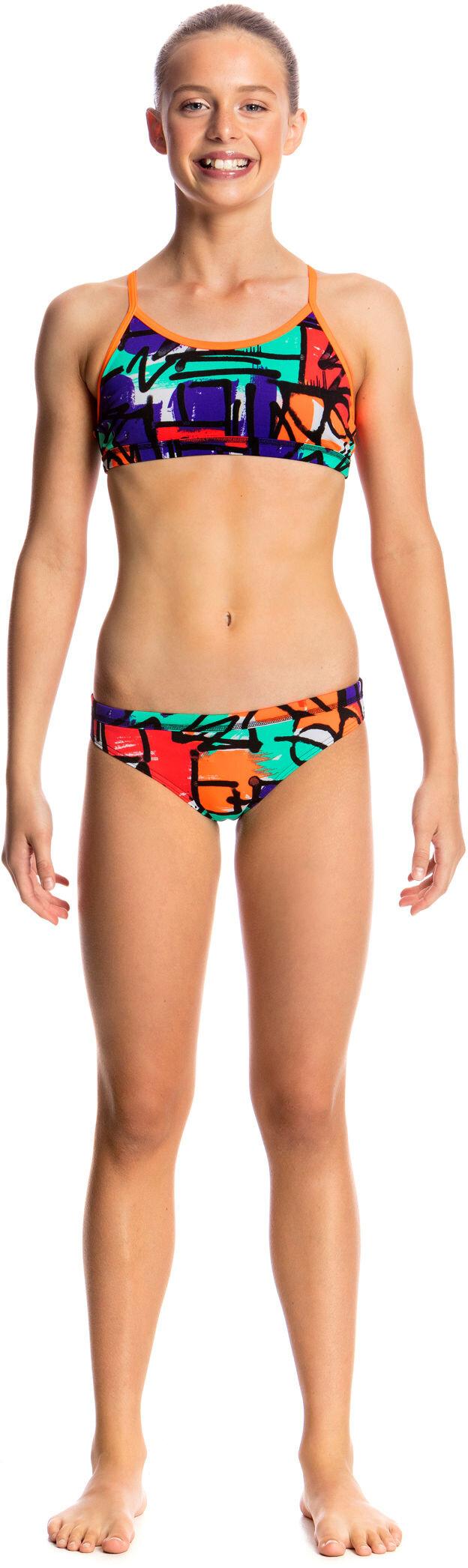 Funkita Racerback Two Piece Bikini Barn flerfärgad - till fenomenalt ... a53c6ee514bbd
